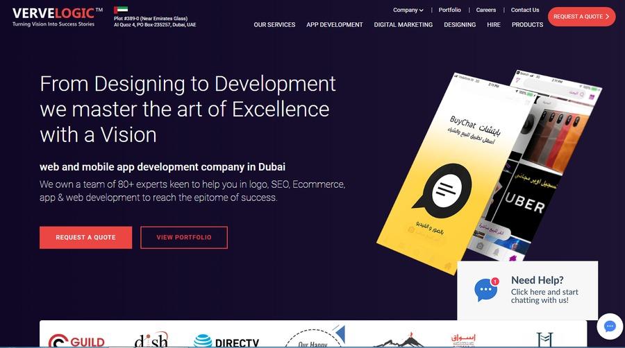 A great web design by vervelogicae, Dubai, United Arab Emirates: