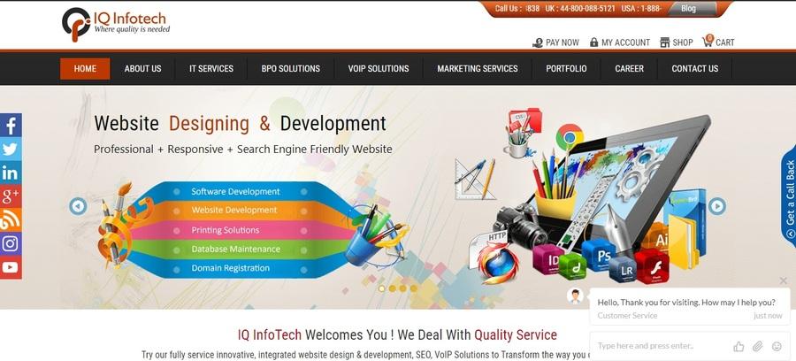 A great web design by IQ Infotech, Delhi, India: