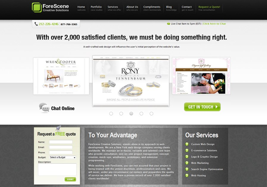 A great web design by ForeScene Creative Solutions, New York, NY: