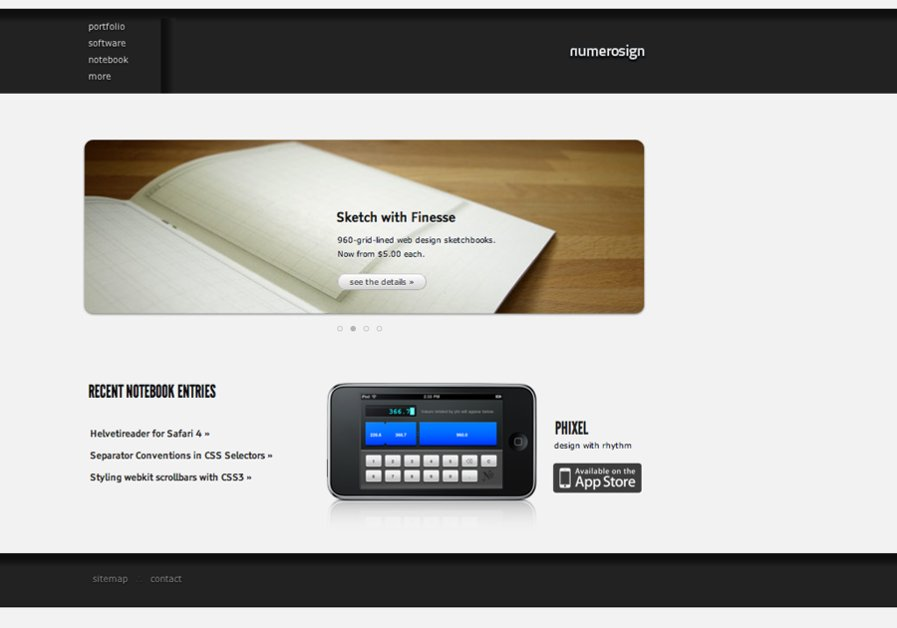 A great web design by numerosign, Portland, OR: