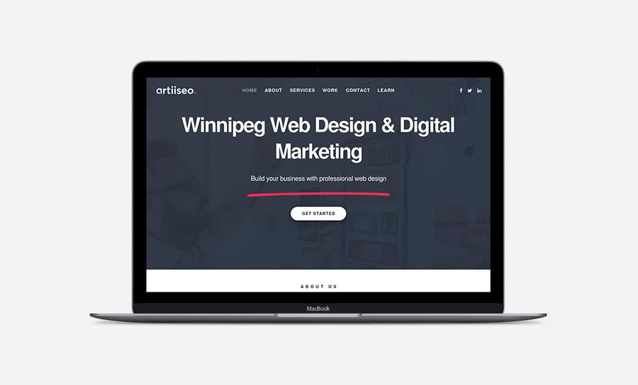 A great web design by Artiiseo web design, Winnipeg, Canada:
