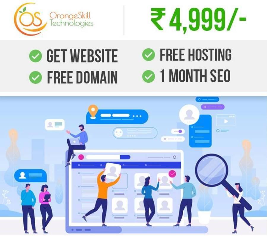 A great web design by OrangeSkill Technologies, Delhi, India: