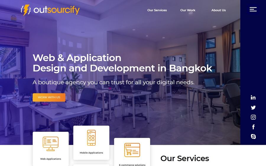 A great web design by Outsourcify, Bangkok, Thailand: