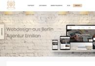 A great web design by Agentur Emilian, Berlin, Germany: