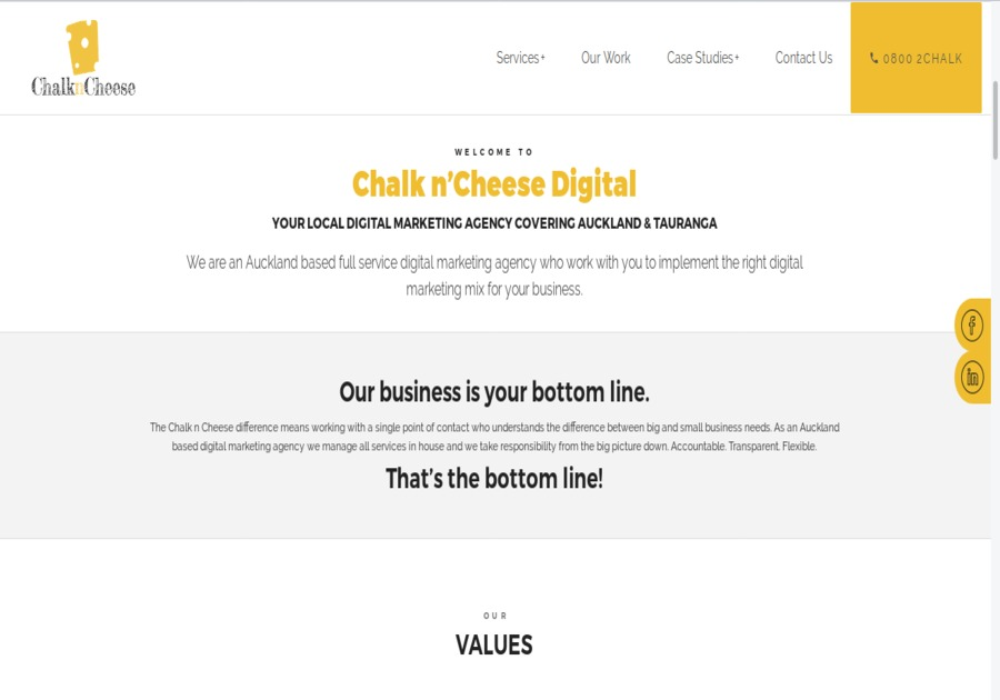A great web design by chalkncheesedigital, Auckland, New Zealand:
