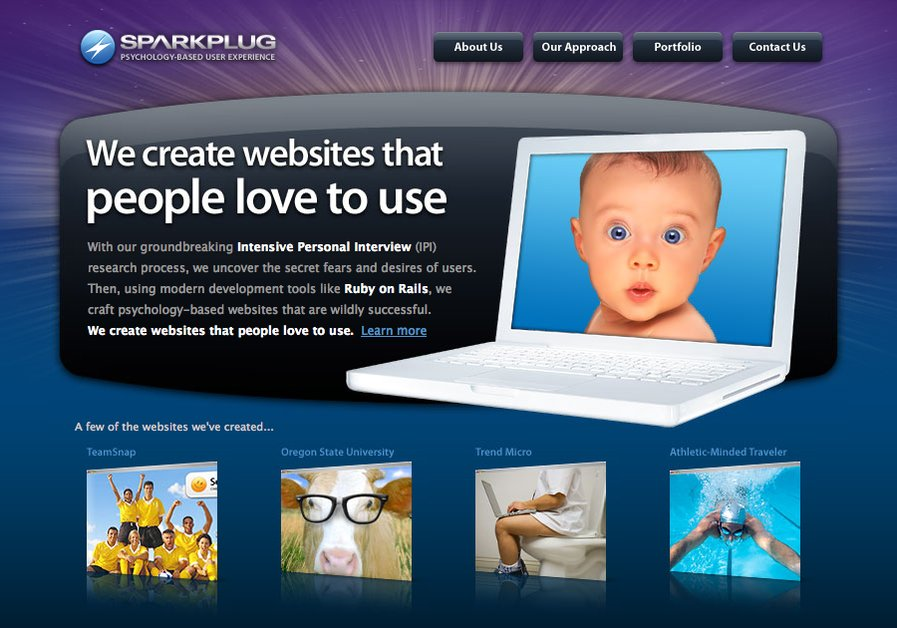 A great web design by Sparkplug, Portland, OR: