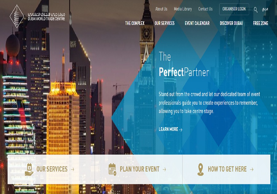A great web design by SISGAIN, Dubai, India: