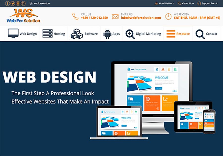 A great web design by Web for Solution Ltd, Dhaka, Bangladesh: