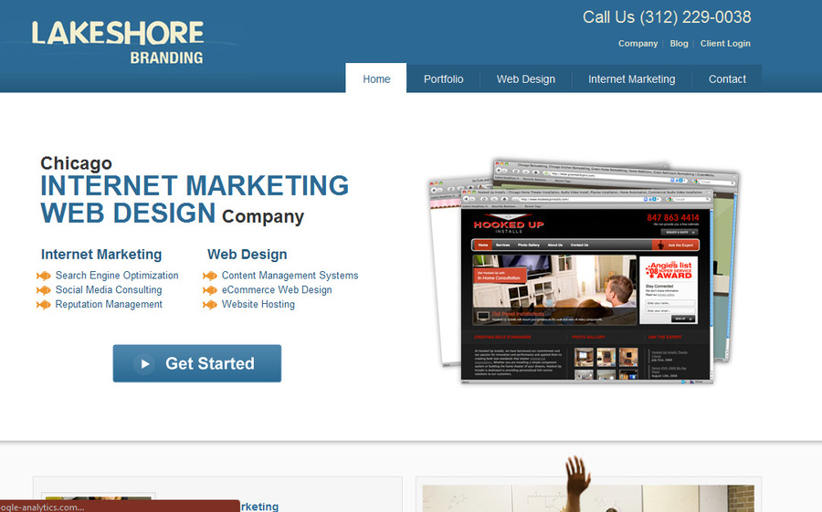 A great web design by Lakeshore Branding, Chicago, IL: