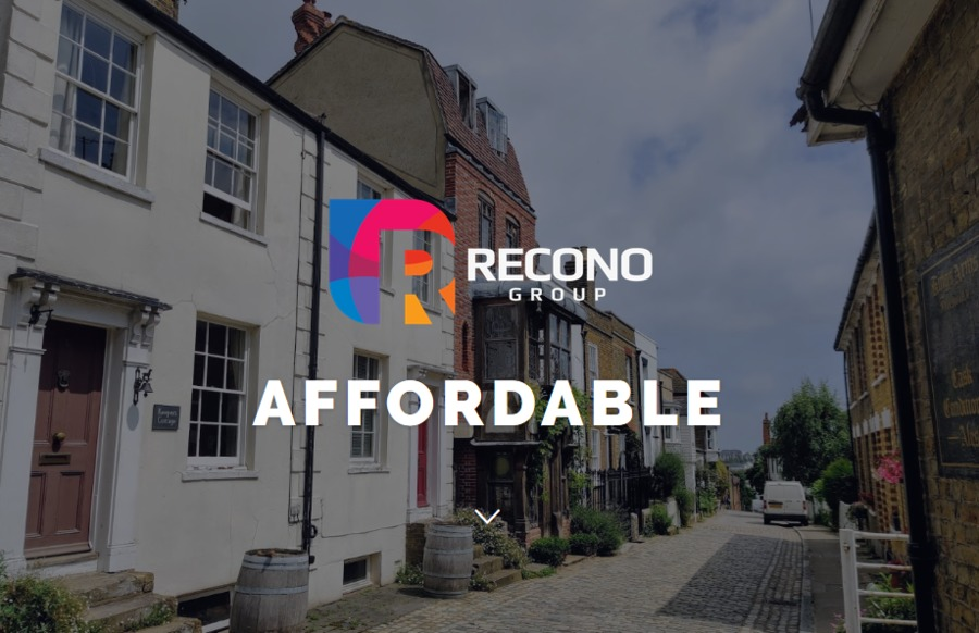 A great web design by Recono Group Web Design, London, United Kingdom: