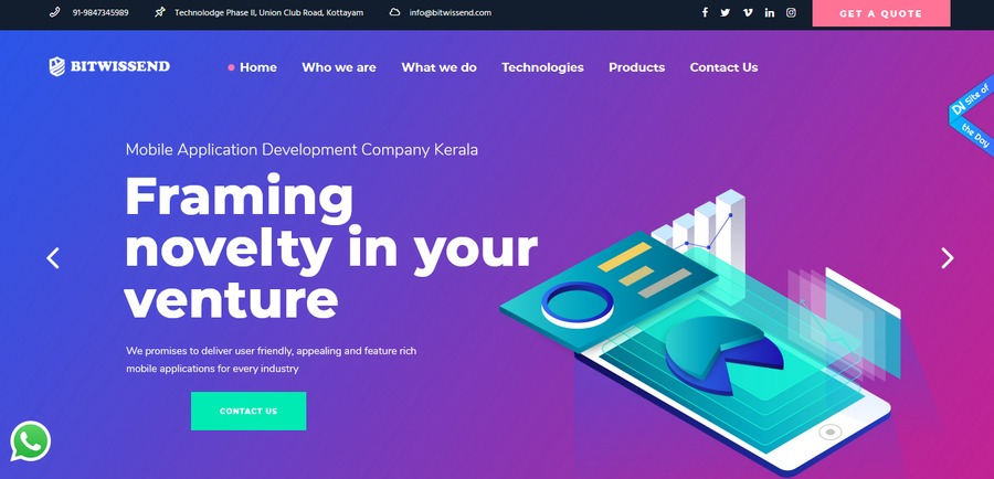 A great web design by Bitwissend Technologies, Kottayam, India: Responsive Website, Technology , Wordpress