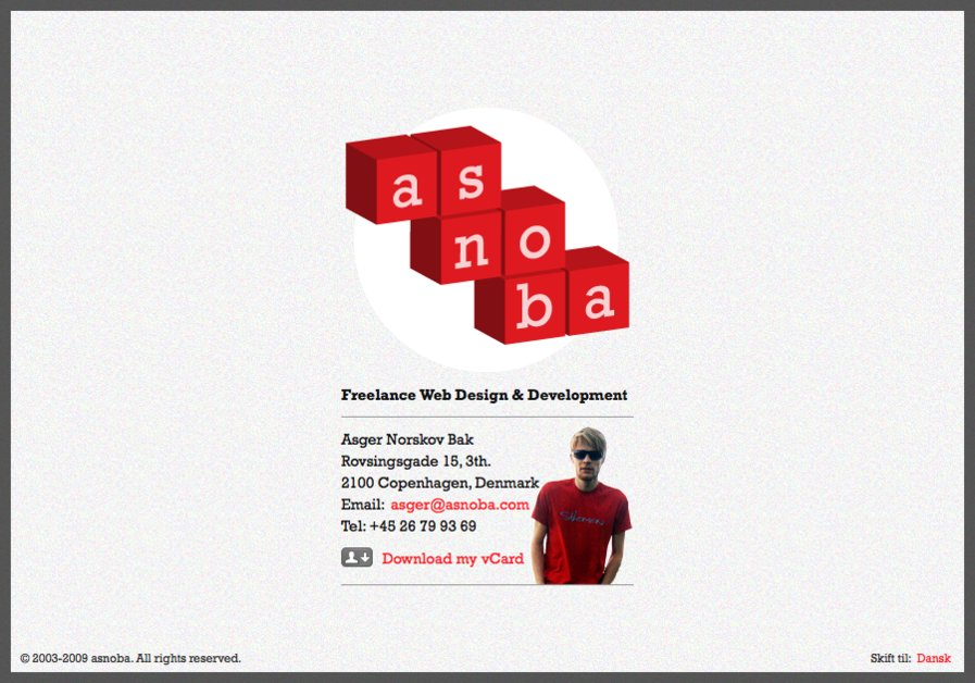 A great web design by asnoba, Copenhagen, Denmark: