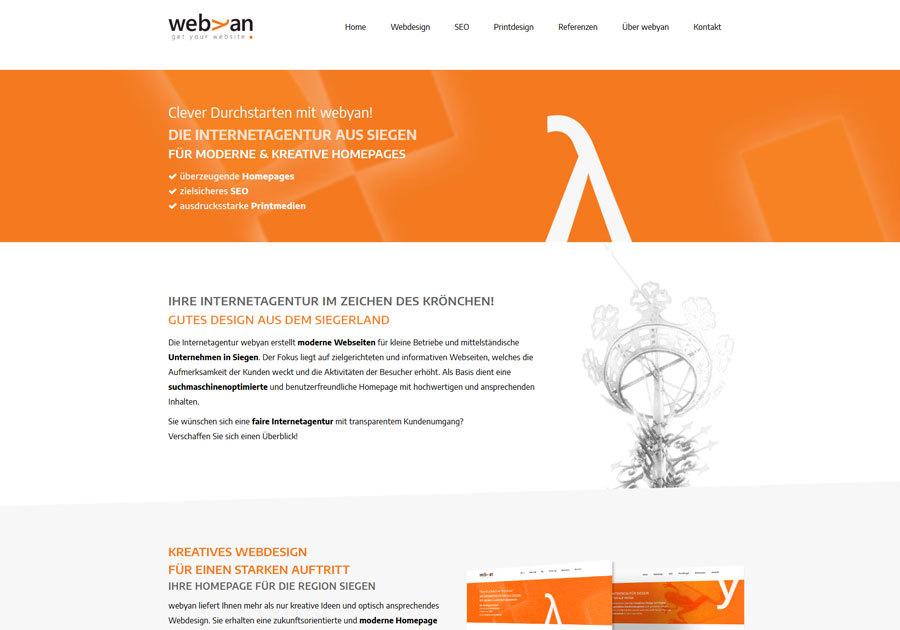 A great web design by Internetagentur webyan, Siegen, Germany: