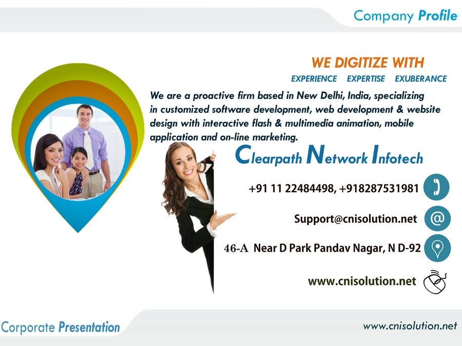 A great web design by Clearpath Network Infotech, New Delhi, India:
