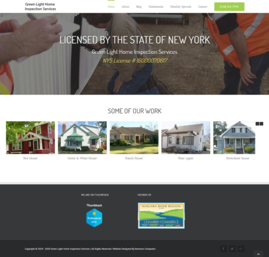 A great web design by Presto Website Design, Buffalo, NY: