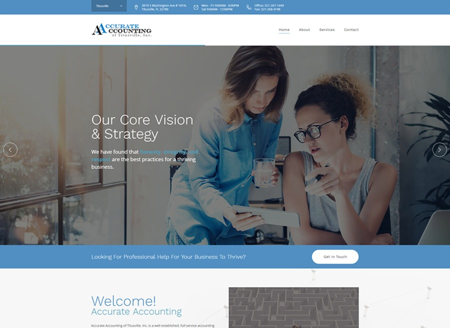 A great web design by Blue Shift Web Services, Melbourne, FL:
