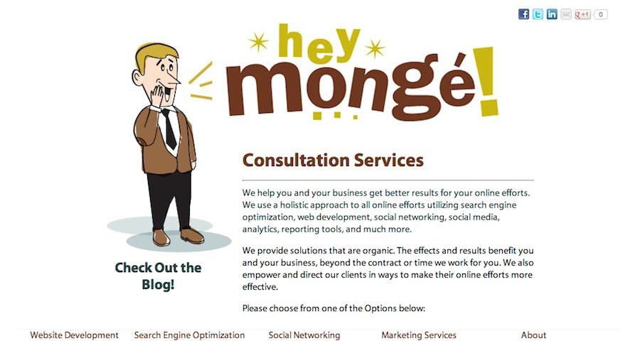 A great web design by Hey, Monge! Consultation Services, Los Angeles, CA: