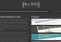A great web design by Ben Mills, Chicago, IL: