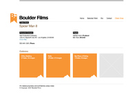 A great web design by Boulder Films, Los Angeles, CA: