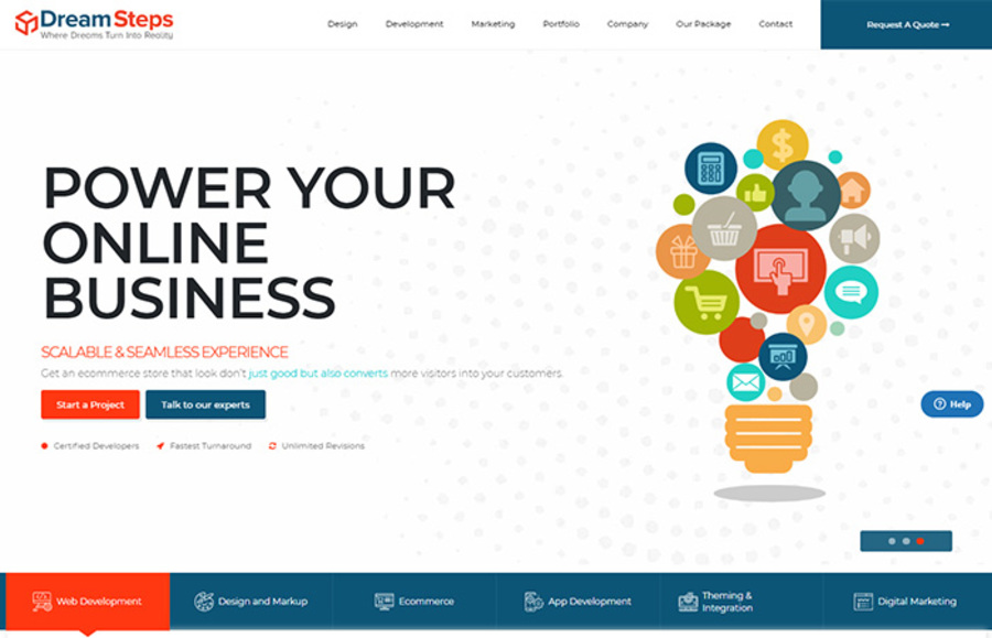 A great web design by Dream Steps Technologies, Noida, India: