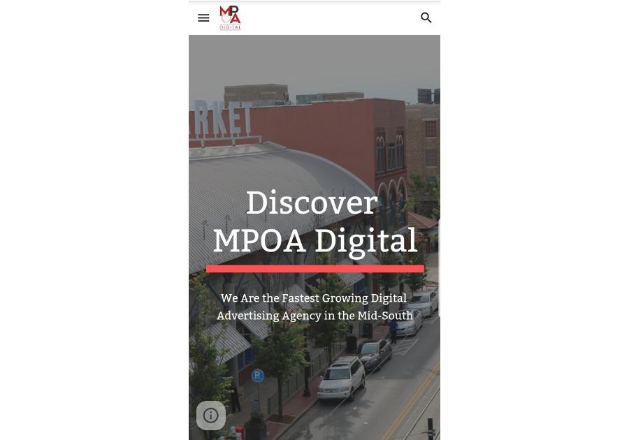 A great web design by MPOA Digital, Little Rock, AR: