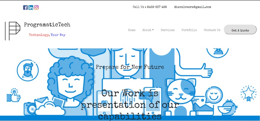 A great web design by ProgramaticTech, Bhuj, India: