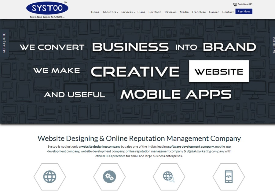 A great web design by Systoo™ Technologies, Kanpur, India: