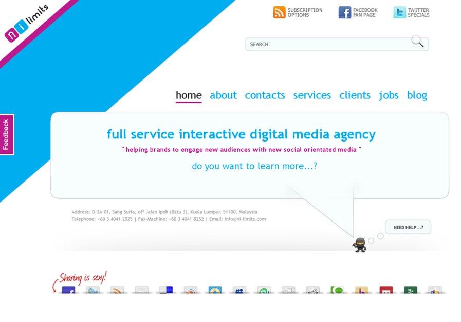 A great web design by NI-Limits, Kuala Lumpur, Malaysia: