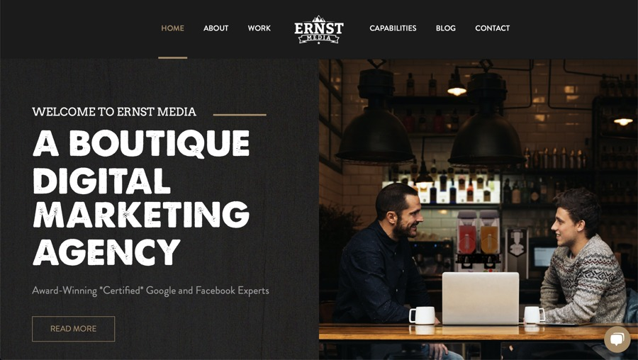 A great web design by Ernst Media, Seattle, WA: