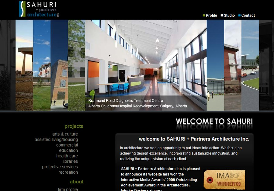 A great web design by FoundPages.com, Calgary, Canada: