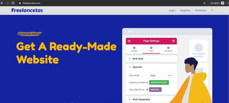 A great web design by Freelancetas, Chelyabinsk, Russia: