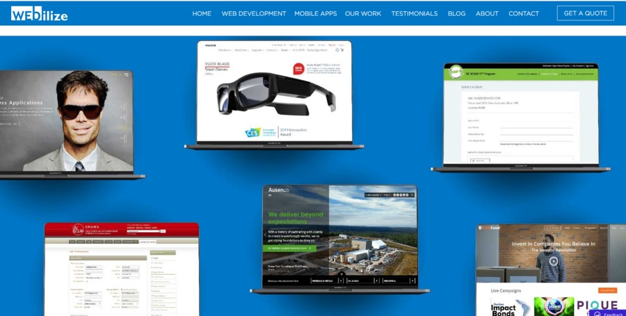 A great web design by Webilize Applications Inc., Vancouver, Canada: