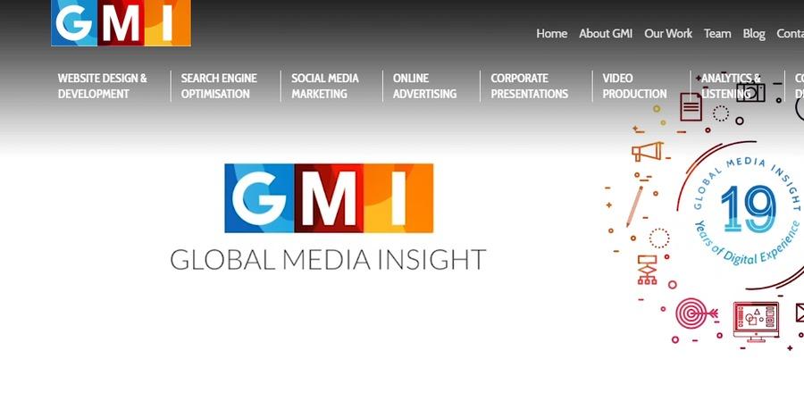 A great web design by GLOBAL MEDIA INSIGHT, Dubai, India: