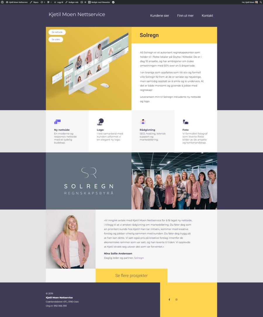 A great web design by Kjetil Moen Nettservice, Oslo, Norway: