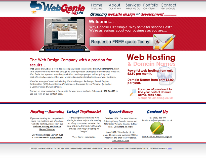 A great web design by Web Genie UK Ltd, London, United Kingdom:
