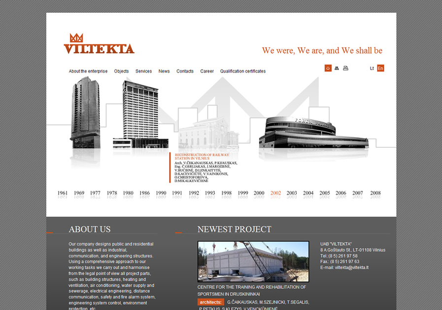 A great web design by ZET, Vilnius, Lithuania: