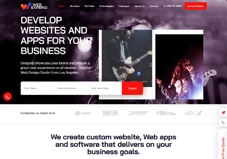 A great web design by WebExperio.com, Los Angeles, CA: