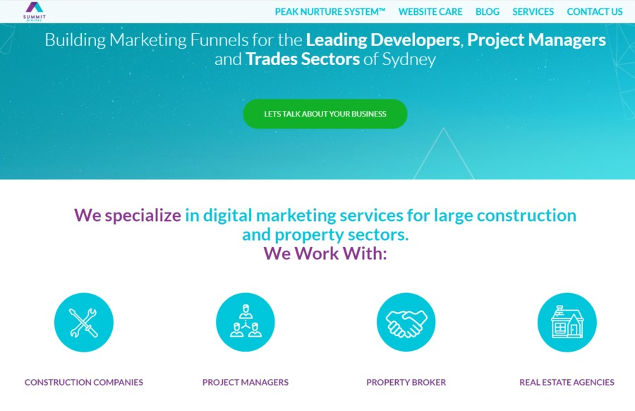 A great web design by Summit Digital, Sydney, Australia: