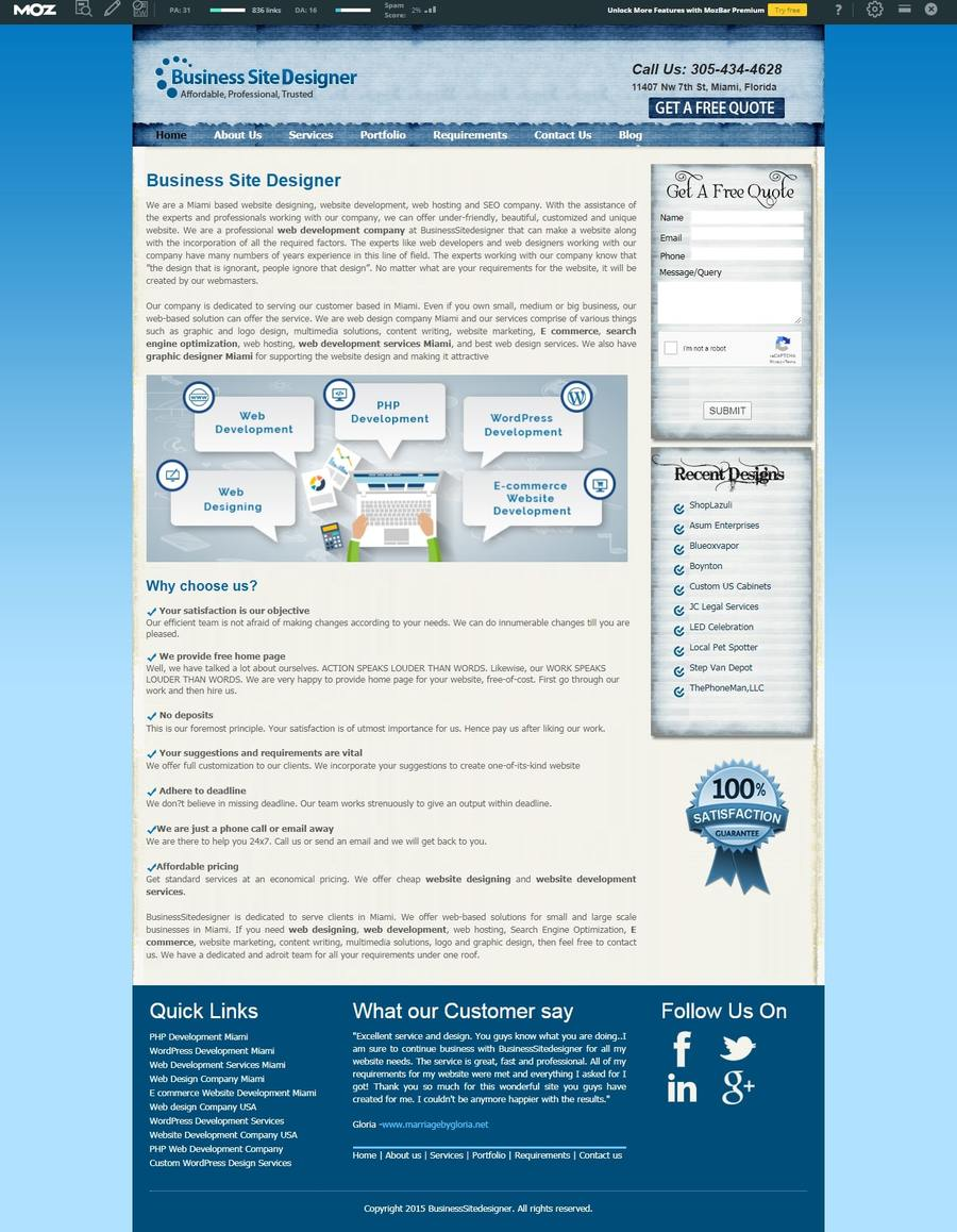 A great web design by Business Site Designer, Miami, FL: