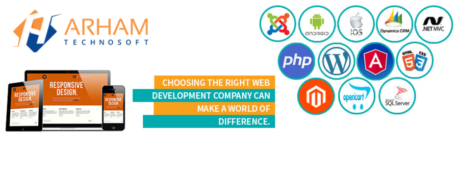A great web design by Arham Technosoft Pvt Ltd., India, UT: