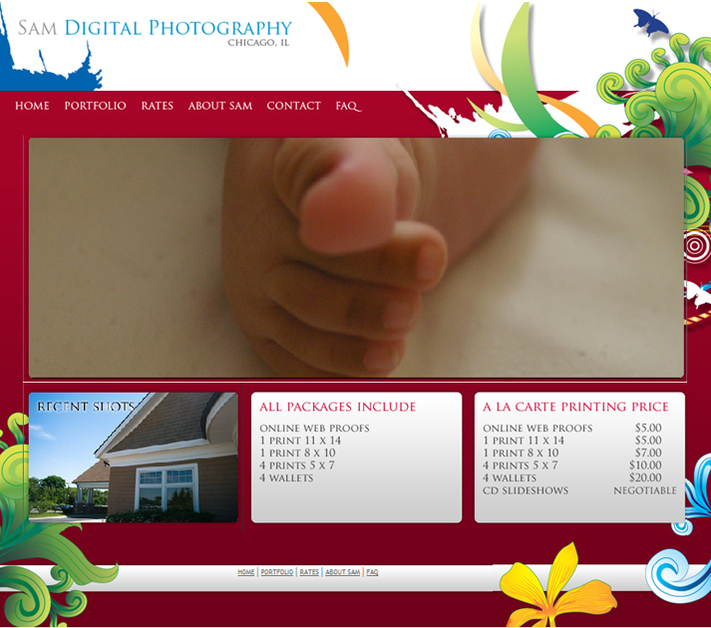 A great web design by Sam Graphic Design, Chicago, IL: