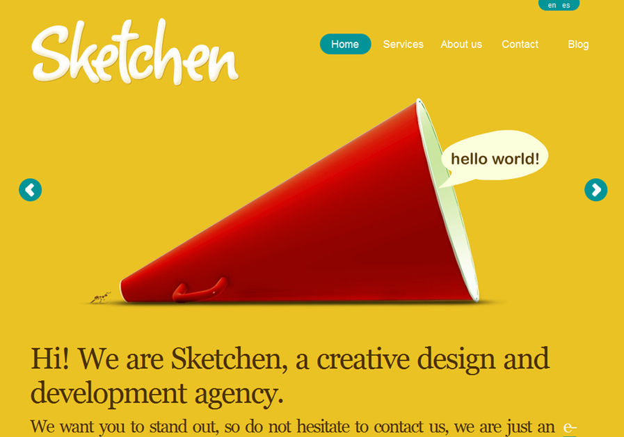 A great web design by Sketchen, Barcelona, Spain: