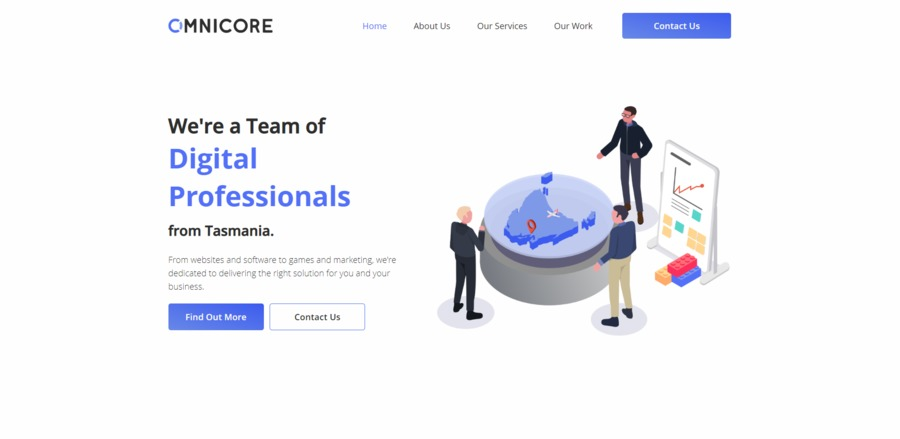 A great web design by Omnicore, Hobart, Australia: Responsive Website, Marketing Website , Technology