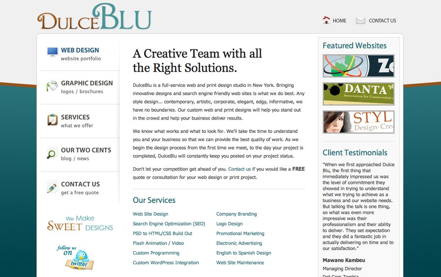 A great web design by Dulce Blu - Web & Print Design, New York, NY: