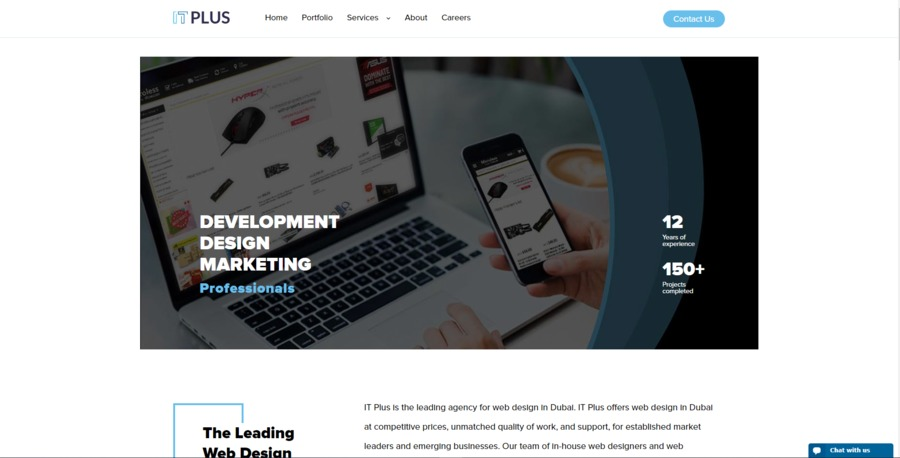 A great web design by IT Plus, Dubai, United Arab Emirates: