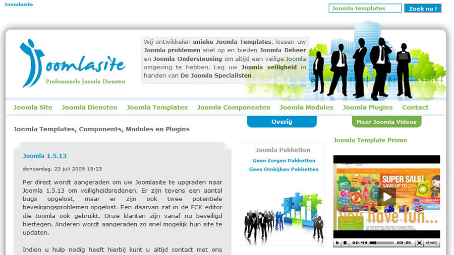 A great web design by Joomlasite, Groningen, Netherlands: