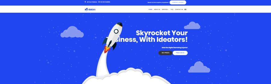 A great web design by Ideators, Karachi, Pakistan: