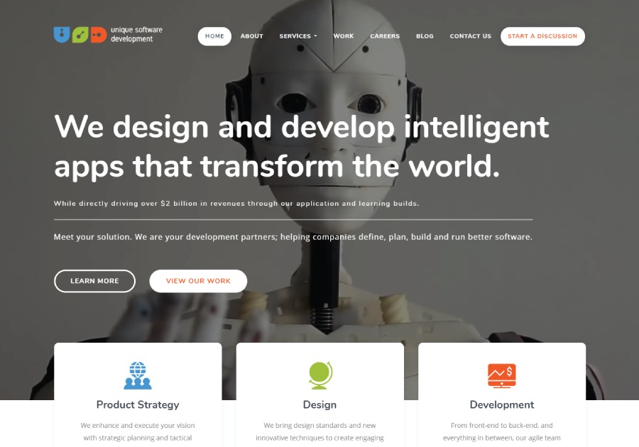 A great web design by Unique Software Development, Dallas, TX: