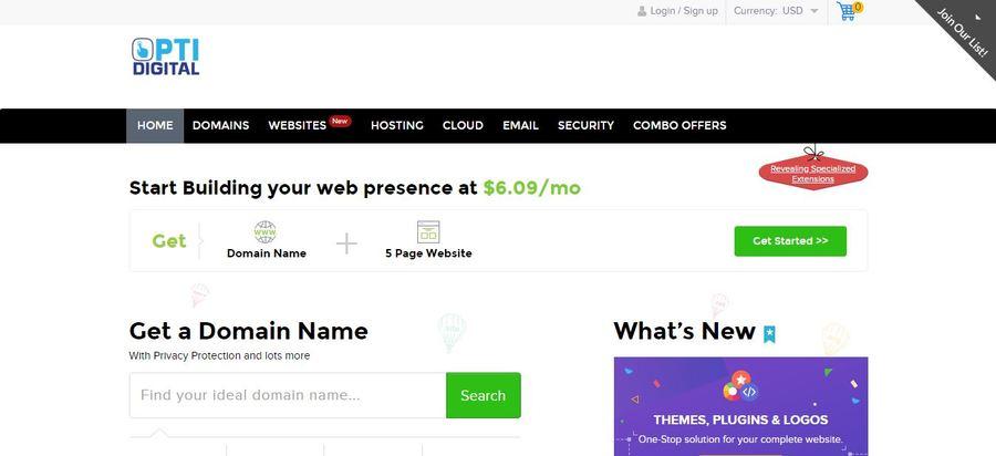 A great web design by Opti Digital, Las Vegas, NV: