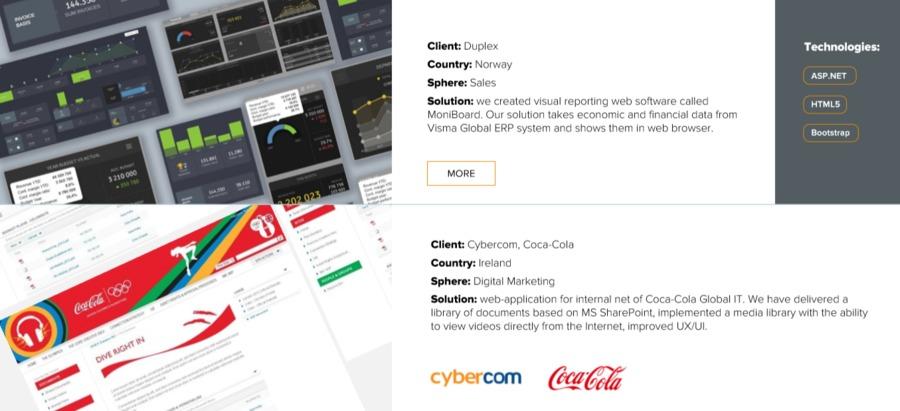A great web design by APRO Software, Minsk, Belarus: ASP.NET